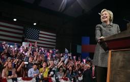 Hillary Clinton Holds Pennsylvania Primary Night Event In Philadelphia
