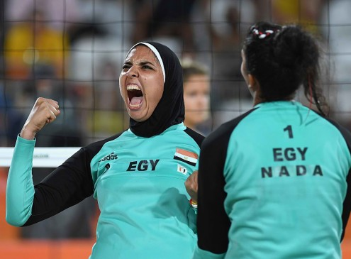 Rio Olympics 2016: Egypt's First Beach Volleyball Contender Wears Hijab During The Match