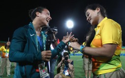 Marjorie Enya proposes marriage to rugby player Isadora Cerullo of Brazil