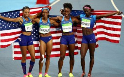 US Women's 4x100-m Relay Team at the 2016 Rio Olympics