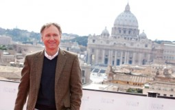 Writer Dan Brown attends the Rome photocall of 'Angels & Demons' at St Angel Castle