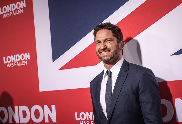 Actor Gerard Butler attends the premiere of Focus Features' 'London Has Fallen'
