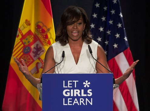First Lady Michelle Obama Launches 'Let Girls Build' Track For Easy Education Access