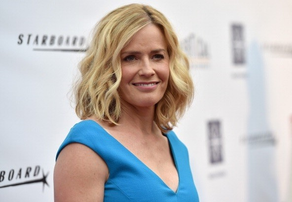 Actress Elisabeth Shue arrives to the premiere of Mad Chance's 'Behaving Badly' at the ArcLight Hollywood