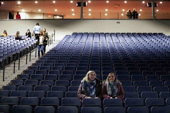Students Arrive Early For The Convocation