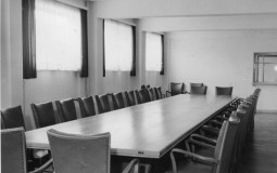 An old company boardroom where meetings are usually held