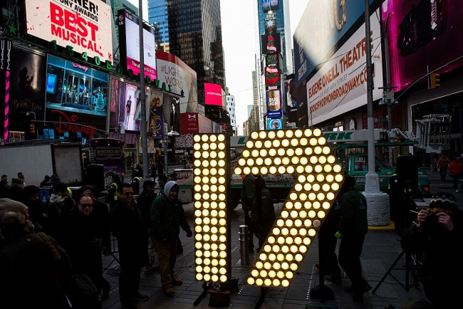 Numerals For Times Square New Year's Eve Celebration Are Delivered To Times Square