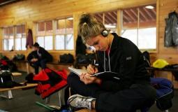 Jotting down goals in a journal