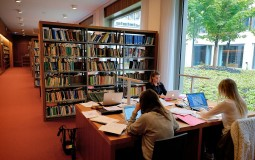 Students spend time studying in a library for better focus and concentration.