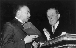 Martin Luther King Receives Nobel Peace Prize
