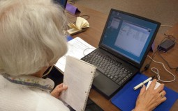 Senior citizens can continue their studies through online courses.
