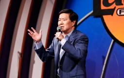 Ken Jeong performs on stage at the Dr. Ken Comedy Night at The Laugh Factory