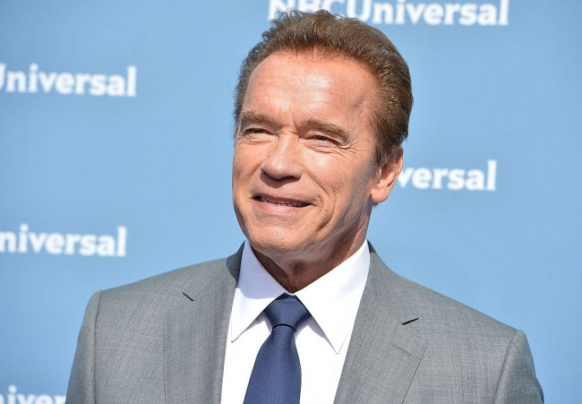 Arnold Schwarzenegger attends the NBCUniversal 2016 Upfront Presentation