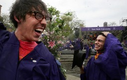 New York University graduates celebrate
