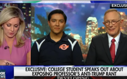 The student who recorded his professor's anti-Trump rant on an interview.