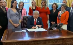 Trump signs laws promoting women into STEM.