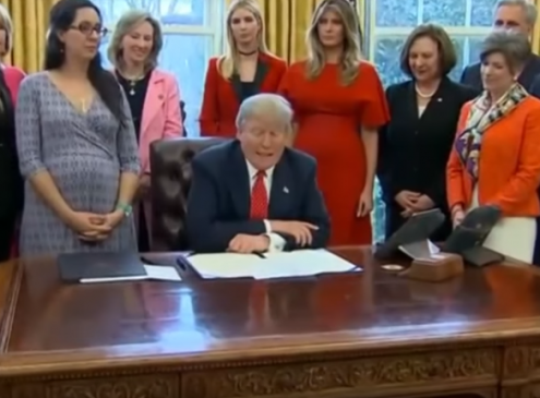 President Trump Signs Bills To Urge Women Into STEM