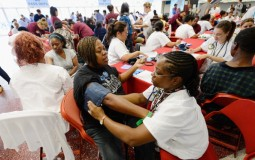 Nursing Students Take Blood Pressure