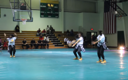 Wilberforce University students perform dance number