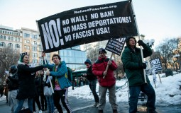 Protesters Demonstrate Against President Trump's Travel Ban