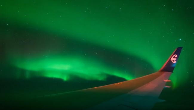 Stunning Time-Lapse Shows Southern Lights From NZ Charter Flight