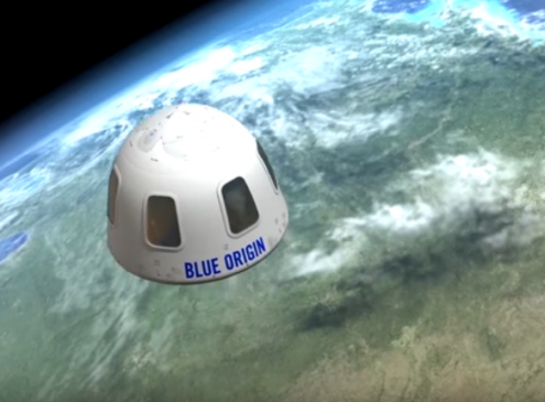 Amazon's Jeff Bezos: A Sneak Peak Of Blue Origin's New Shepard Passenger Capsule