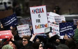 Students Walkout To Protest Against President Trump's Policies