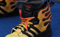 Shoelace on sneakers