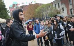 Students at Saint Louis University