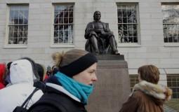 The Statue Of John Harvard