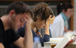 Students stressing out over upcoming finals.