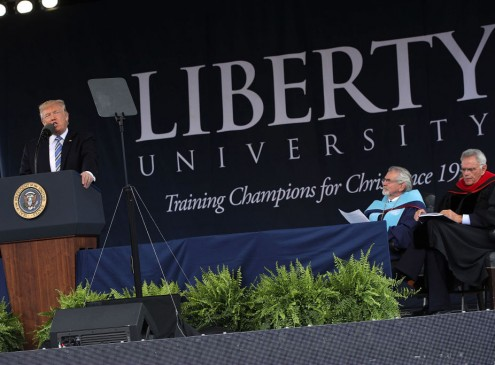 Donald Trump Lectures Liberty University Graduates To Never Let Anyone Dictate Their Lives [VIDEO]