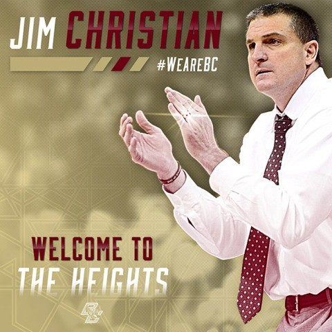 BC Hires Jim Christian as New Head Basketball Coach.