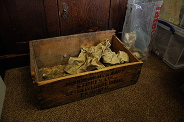 The box in which the remnants were found.