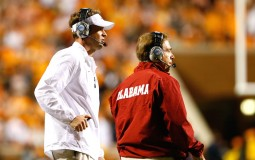 Lane Kiffin and Nick Saban